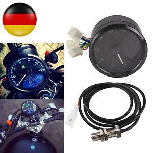 12000RMP LCD Digital Tachometer Drehzahlmesser Kilometerzähler Odometer Motorrad