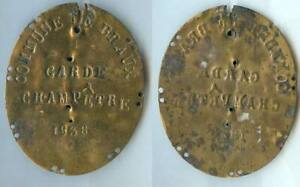 Confiant Plaque De Métier - Braux 1838 (alpes Haute Provence) Garde Champêtre Art Popula