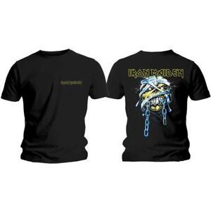 Licencia-Oficial-Iron-Maiden-Powerslave-Head-amp-LOGOTIPO-Camiseta-Eddie-Metal