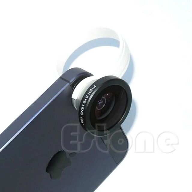 Clip Wide Angle + 180°Macro Fish Eye Lens For Samsung iphone HTC Mobile Phone