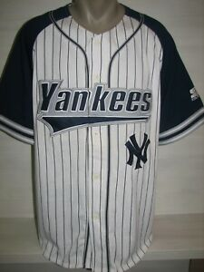 reputable site 0aeb3 2161d Details about NY YANKEES HOME SHIRT STARTER JERSEY SIZE L