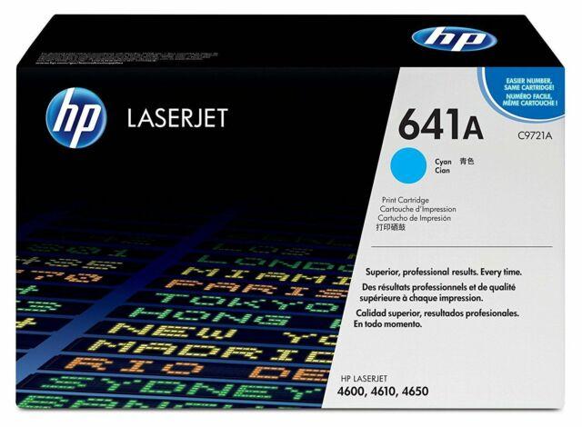 BRAND NEW GENUINE FACTORY SEALED HP C9721A CYAN PRINT CARTRIDGE 4600//4610//4650