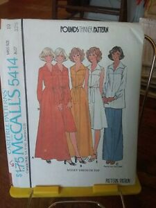 Oop-Mccalls-Pounds-Thinner-5414-misses-dress-tunic-top-sz-10-NEW