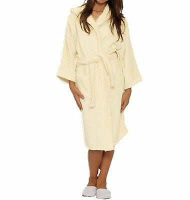 Diligent Kids Hooded Terry Bathrobe, Spa, Party, Pool, Kids Robe Great Gift !!! Beige