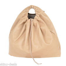 MAISON MARTIN MARGIELA New Woman Beige LEATHER Shoulder Strap Bucket Handbag