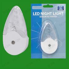Plug In Automatic LED Dusk ~ Dawn Sensor Nightlight Hallways Child Room Nursery