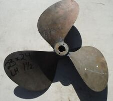 """23 X 24 BRONZE 3 Blade Left Hand Propeller 1-1/2"""" Bore Prop Wheel 23x24"""