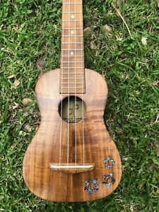 Hawaii Ukulele Soprano All Solid Acacia Koa Wood Hawaiian Traditional Classic