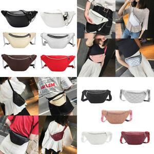 48b5fc9aa3c Details about Fashion Waist Fanny Pack Women PU Leather Belt Zipper Waist  Bag Chest Tote Purse