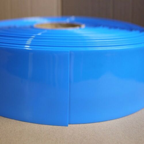 Battery Sleeve PVC Heat Shrinkable Tube Blue Width 120MM Φ76MM x 1M