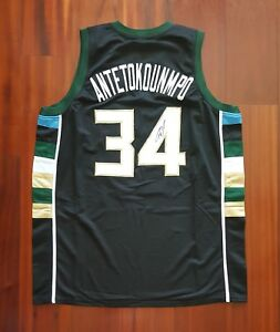4395ca7a33f Image is loading Giannis-Antetokounmpo-Autographed-Signed-Jersey-Milwaukee- Bucks-JSA