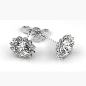 Image Is Loading Flawless Gia Certified Round Brilliant Cut Diamond Stud