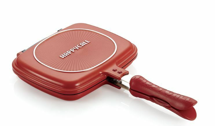 Happycall doble cara rojo estándar PAN especializado para peces de cocina