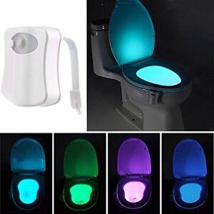 KINGSO LED Toilet Light Sensor Motion Activated Glow Toilet Bowl Light Up Seat