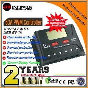 Adroit Professional Industrial Grade*50a 12/24v Pwm Solar Charge Controller Regulator Buy One Get One Free Alternative & Solar Energy