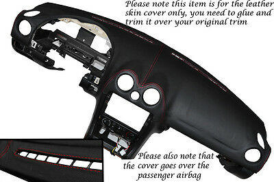 RED STITCHING TOP DASH DASHBOARD SKIN COVER FITS MAZDA MX5 MK2/2.5 MIATA 98-05