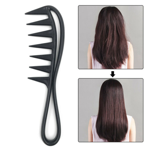 Hair Styling Brush Comb Salon Wide Tooth Plastic Hairdressing Massage Curly Care