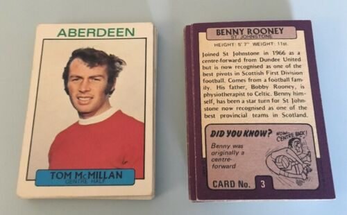 Choose from drop down list Footballers A/&BC Scottish 1971
