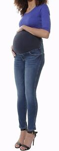 SKINNY-DENIM-OVER-BUMP-JEANS-JEGGINGS-MATERNITY-STRETCHY-PREGNANCY-PANTS-8-TO24