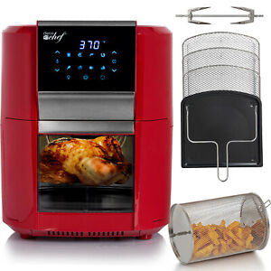 Deco Chef 1700W 12.7QT Digital Air Fryer Oven, with 8 Meal Preset Modes, Red