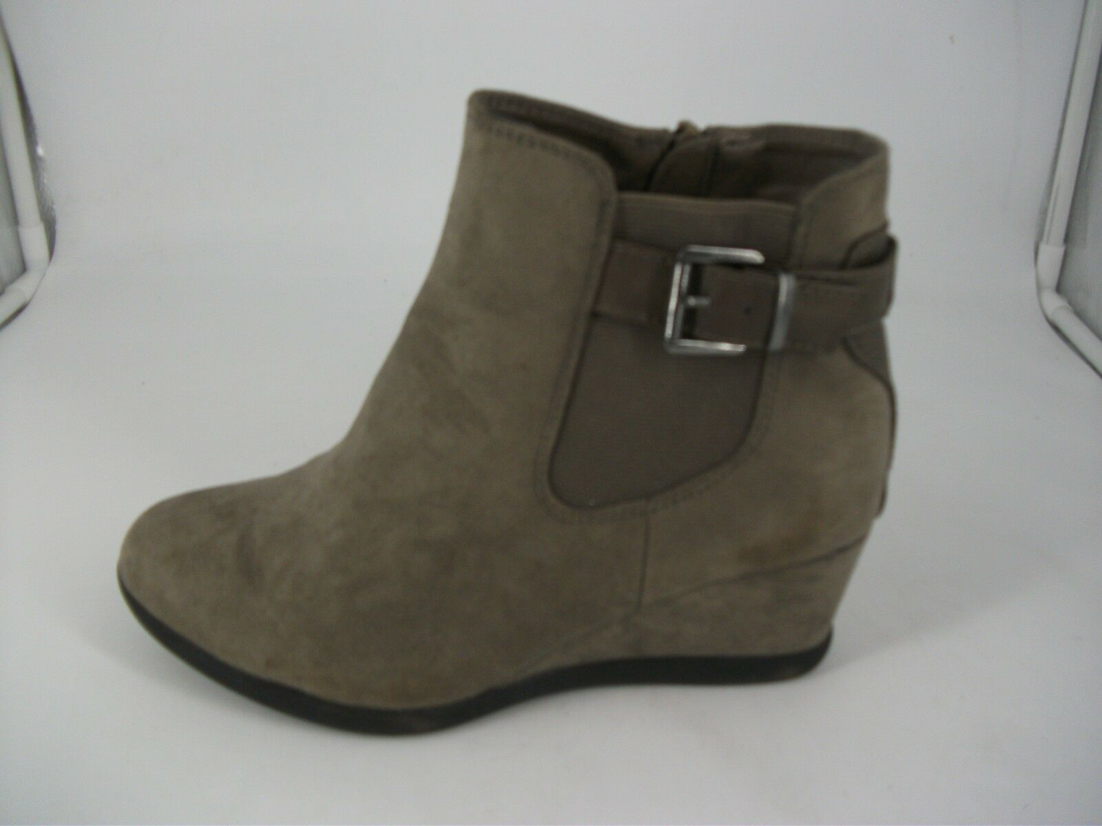 Evans ANNEKA Grey Low Wedge EEE Fit Ankle Boots JS092 SS 01
