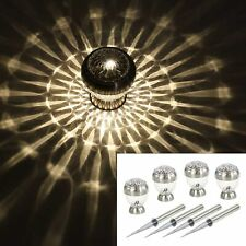 4er Set LED Solarleuchten,Galaxy Effekt /& Warmw.,stehend hängend,Tischleuchte