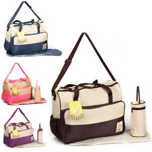 3-tlg-Baby-Wickeltasche-Pflegetasche-Windeltasche-Babytasche-Reise-Farbauswahl