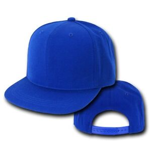 c7a474e60a8 Image is loading Royal-Blue-Vintage-Flat-Snapback-Snap-Back-Baseball-