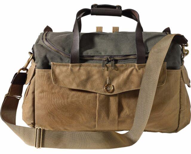Filson 70143 8 Slot Interior Divider Sportsman Camera Bag Otter Green Tan