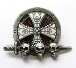 d0a1d1176aba Boucle Ceinture Tête de mort Skull Celtic biker moto custom belt ...