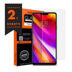 promo code a396c 232fb Details about Genuine Spigen LG G7 G7+ ThinQ Tempered Glass Screen  Protection Protector Film