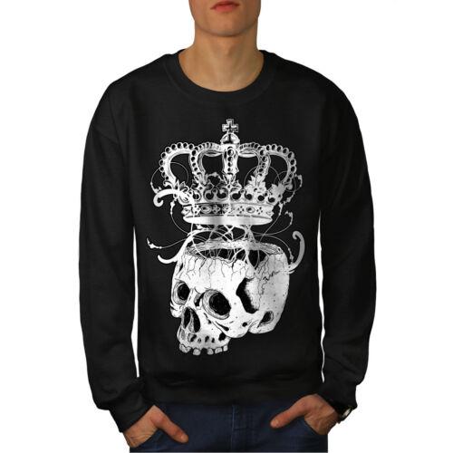 Hippie Casual Pullover Jumper Wellcoda Crown Skeleton Rock Mens Sweatshirt