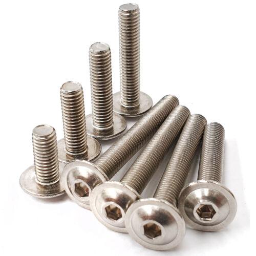 Button Head Bolts Flanged Screws Allen Key A2 Stainless Steel M3 M4 M5 M6 M8