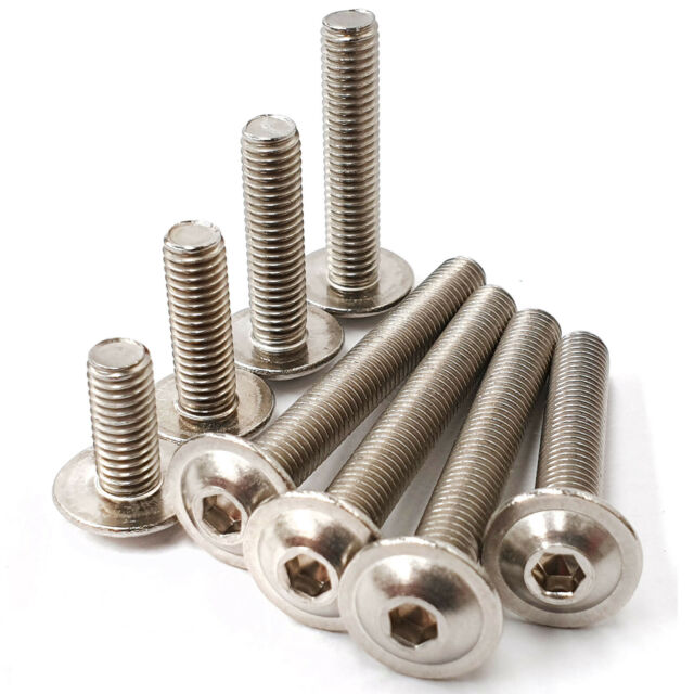 M8 x 30 acier inoxydable bride bouton tête 10 Pack FREE P/&P