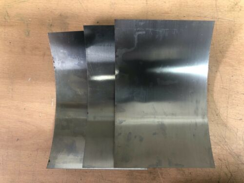 """0.007/"""" 0.003/"""" 0.005/"""" 1 of each Steel Shim Sheets 6/"""" x 4/"""" Rectangle"""