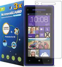 3x HTC Windows Phone 8X 6990 PM23300 Clear LCD Screen Protector Guard Cover Film