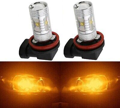 LED 50W 9006 HB4 Orange Amber Two Bulbs Fog Light Plug Play Replacement OE