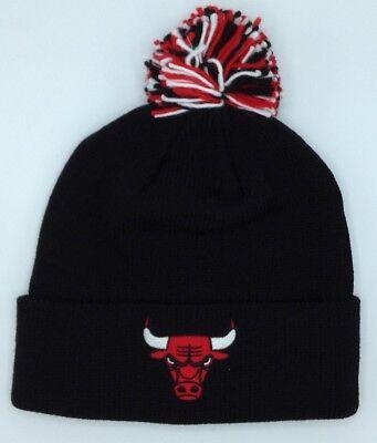 Hearty Nba Chicago Bulls Adidas Cuffed Pom Winter Knit Hat Cap Beanie Style # Kp71z New 50% OFF Memorabilia Sporting Goods