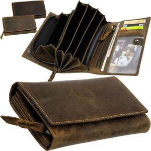 L-amp-B-Damen-Geldboerse-Leder-6-Geldscheinfaecher-Portemonnaie-Geldtasche-Geldbeutel