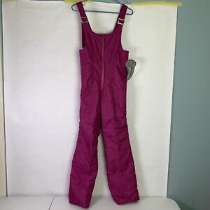 Snuggler-Magenta-NWT-Womens-Ski-Bibs-Suit-Snow-Snowsuit-Overalls-Vintage-Size-8