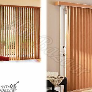 Delicieux Better Homes And Gardens Vertical Blinds Printed Oak Brown 78 X 84