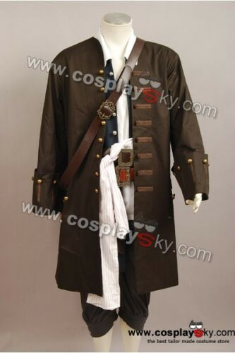 Pirates of the Caribbean Captain Jack Sparrow Halloween Cosplay Costume Outfit