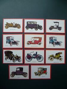 Sammelbilder-Karten-Automobil-Cars-Monty-Gum-Autos-Oldtimers-trade-cards-x-11