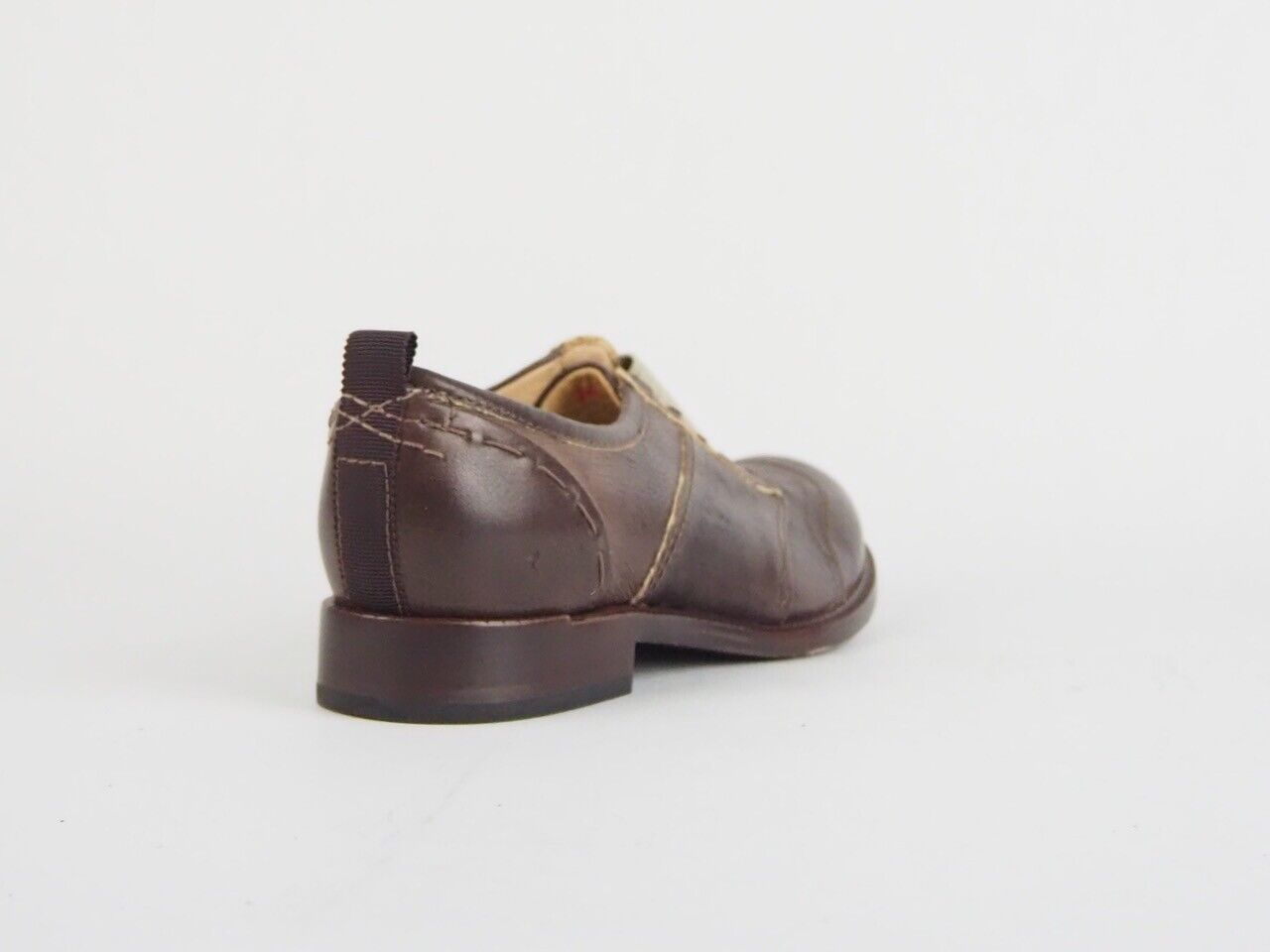 Womens Timberland Handcrafted Lucille Slip Ox 8145R Dark Brown Leather Shoes