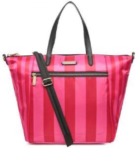 tracolla nailon 1x Victoria Sachel Ew per sulla caldo borsa di segreta a Striscia a strisce rosa SSfawOqE