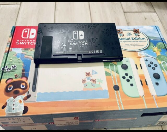 NEW Nintendo Switch Animal Crossing Special Edition Console NO JOYCONS AND DOCK