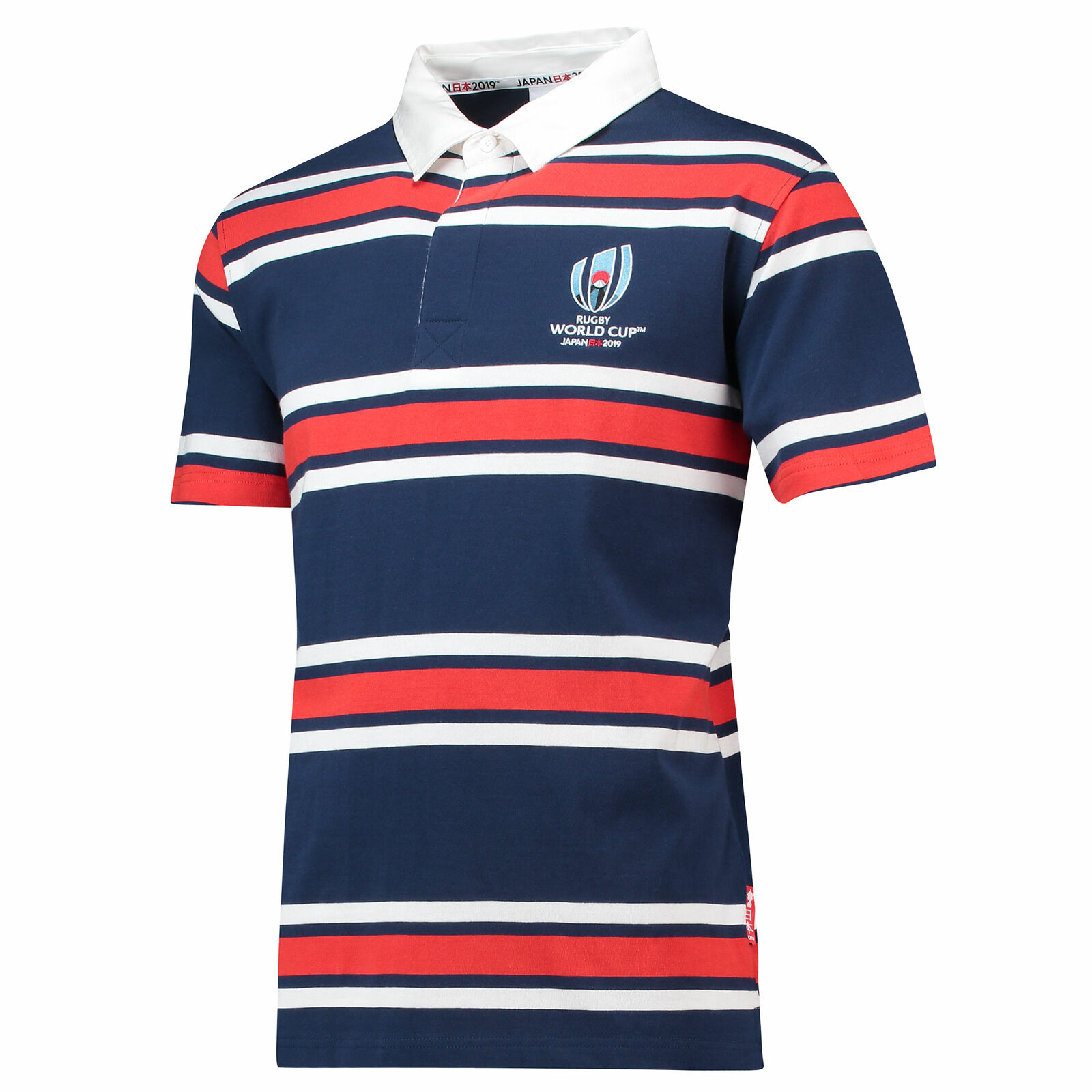 Rugby World Cup 2019 Striped Jersey Short Sleeved Red White Navy Mens Fanatics