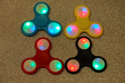 3 Pieces Plastic Fidget Spinner with Led Lights Finger Spinner