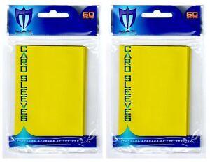 100-Max-Pro-Premium-Yellow-Deck-Guard-Sleeve-Protectors-Standard-MTG-Pokemon