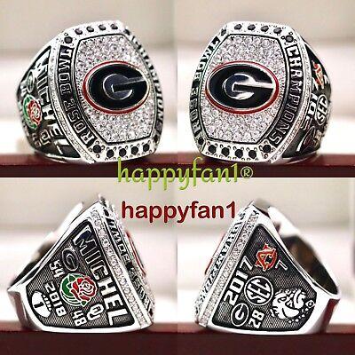 2017 2018 Georgia Bulldogs Rose Bowl NCAA National Championship copper ring